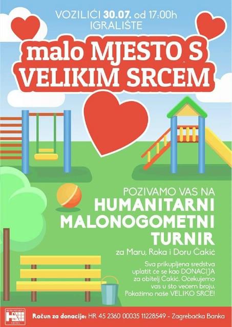 Humanitarni malonogometni turnir u Vozlićima 30.7.2016. godine za obitelj Čakić