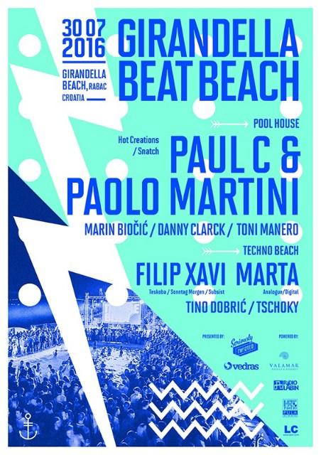 Girandella Beat Beach vol.05 @ Girandella Beach, Rabac 30.07.2016.