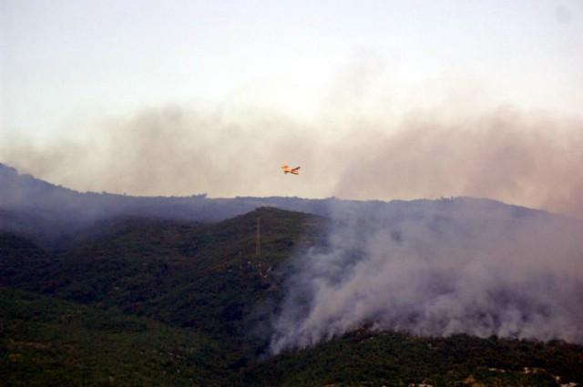 Gromovi zapalili obronke Učke - požar još nije ugašen