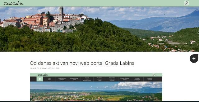Aktivan novi web portal Grada Labina