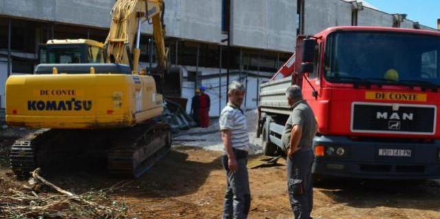 U centru Labina gradi se novi hram sporta