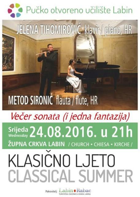 Klasično Ljeto 2016: Večer sonata i jedna fantazija