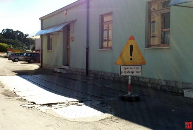 """Za desetak dana bit će sanirana oštećena """"vaga"""" na ulazu u Pijacal"""