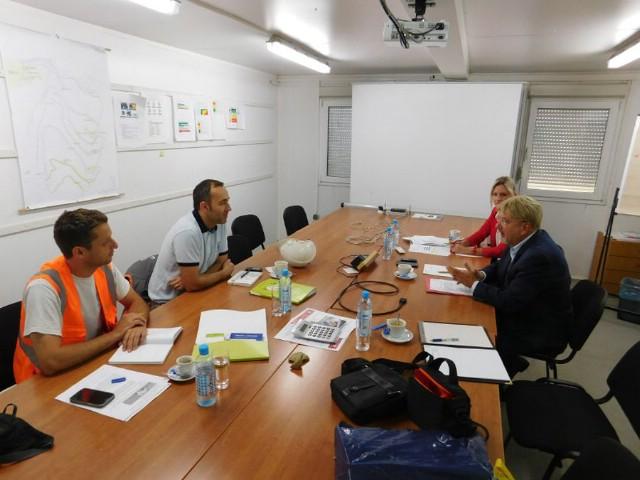Ravnatelj Zavoda za unapređivanje zaštite na radu u posjetu tvrtki Holcim u Koromačnom