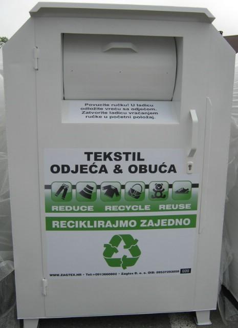 U Općini Kršan postavljeni kontejneri za tekstil