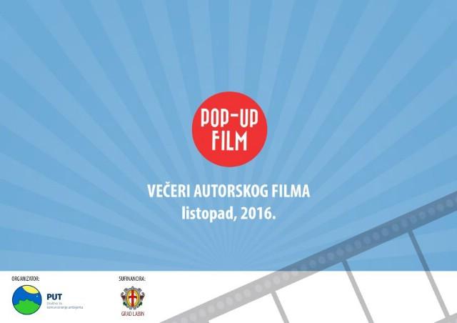 [POP-UP FILM 2016. ] U petak 7. listopada prva Večer autorskog filma u Gradskoj knjižnici Labin