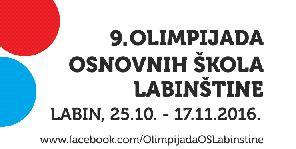 U utorak 25. 10. 2016. započinje 9. Olimpijada osnovnih škola Labinštine