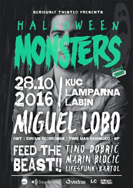 Halloween Monsters w/ MIGUEL LOBO @ KuC Lamparna, Labin 28.10.2016.