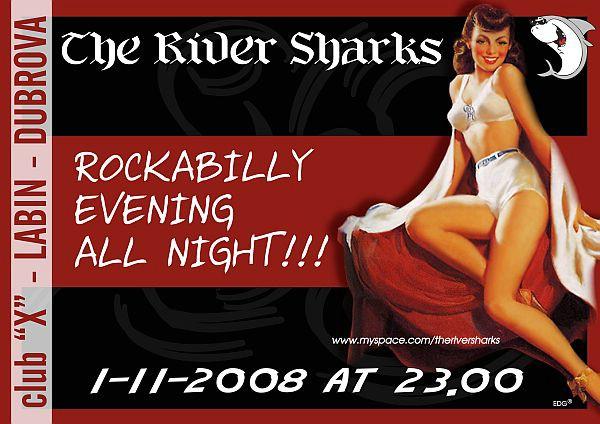 "Rockabilly večer uz Riječki kvartet ""The River Sharks"" u clubu ""X"" na Dubrovi"