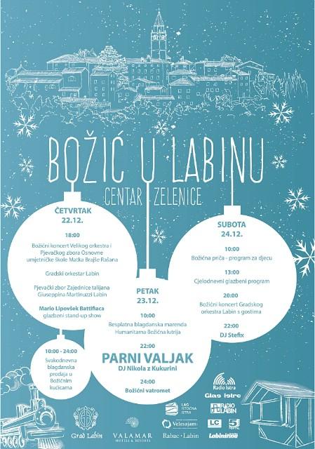 Od 22. do 24. prosinca Božić u Labinu