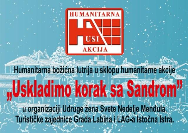 TZG Labin i LAG Istočna Istra pridružuju se humanitarnoj akciji `Uskladimo korak sa Sandrom`