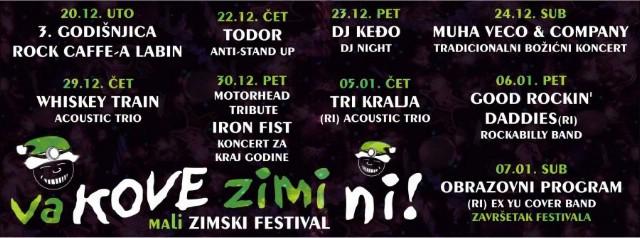 U sklopu zimskog rock festivala `Va kove zimi ni` ovog tjedna dva koncerta u Rock Caffeu Labin