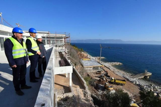 Istarski župan obišao gradilište na Girandelli