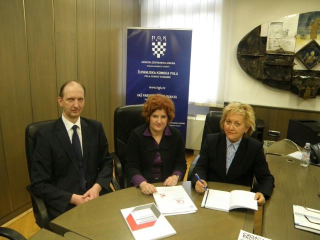 Održan radni sastanak predstavnika HGK ŽK Pula i Općine Raša