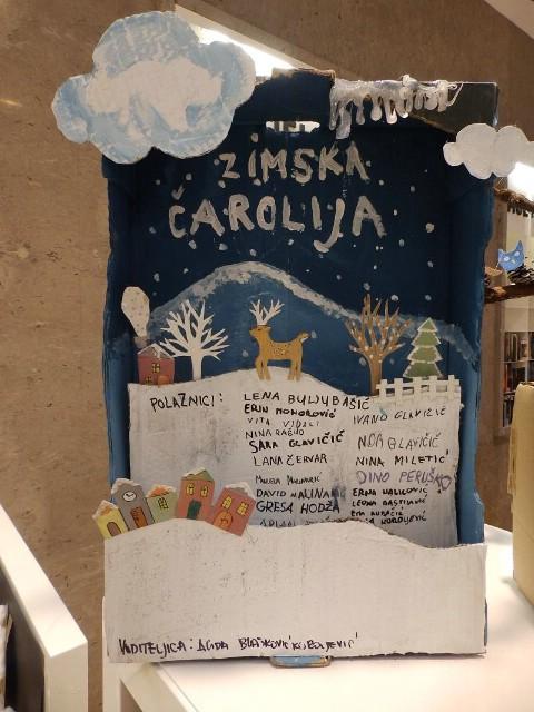 Zimska čarolija u Dječjem odjelu Gradske knjižnice Labin
