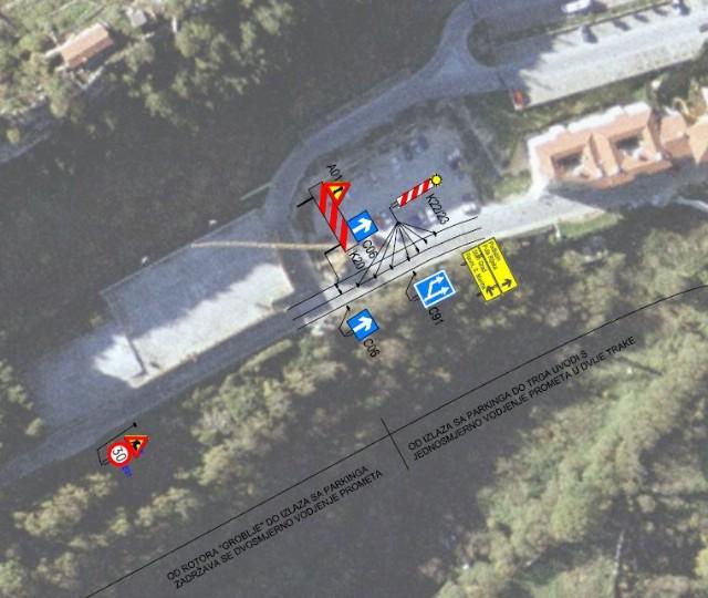 [VAŽNA OBAVIJEST] Novi režim prometovanja za vrijeme izvođenja radova u ulici Aldo Negri na usponu za Stari grad