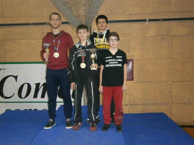 Na europakom kickboxing kupu `Karlovac open 2017` Labinjani osvojili tri odličja