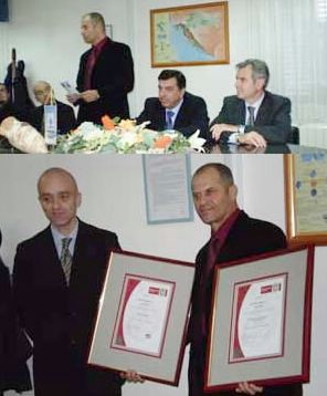 Tvrtka Vodovod d.o.o dobila dva certifikata: ISO 9001:2000 i HACCP (Audio)