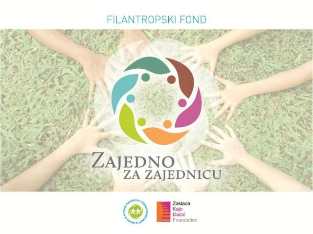 Raspisan prvi natječaj iz Filantropskog fonda `Zajedno za zajednicu`