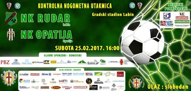 [Najava] NK Rudar (Labin) – NK Opatija(Opatija) subota 25.2.2017.