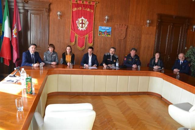 Održan prijem za predstavnike Stožera civilne zaštite Grada Labina i općina Labinštine