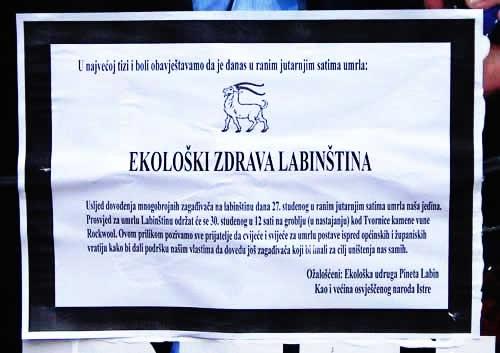 Na nedjeljni prosvjed protiv Rockwoola pozvani i istarski političari