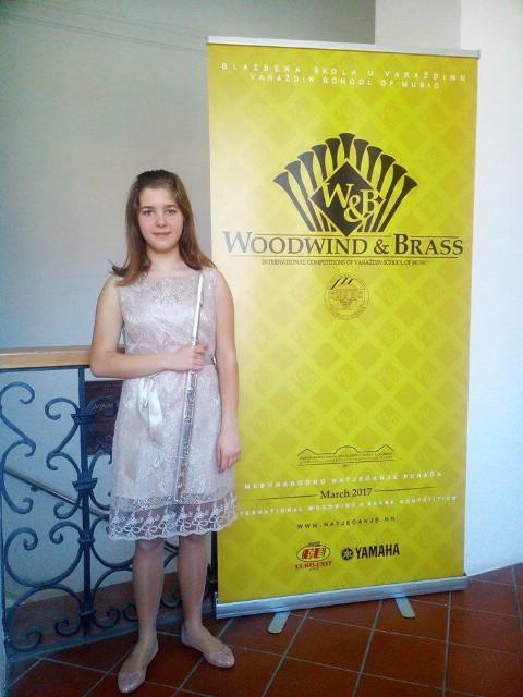Natali Belušić osvojila je 2. nagradu na međunarodnom natjecanju za puhače Woodwind & Brass u Varaždinu