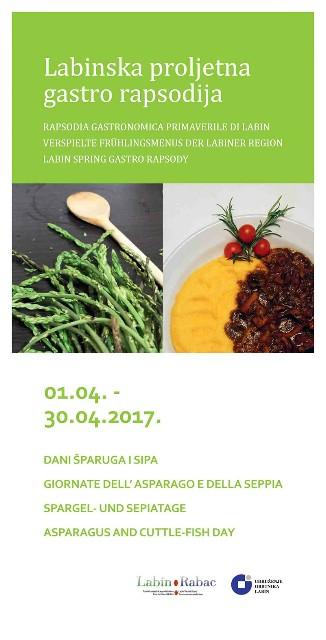 Labinska proljetna gastro rapsodija: Dani šparuga i sipa 1. – 30. 4. 2017.