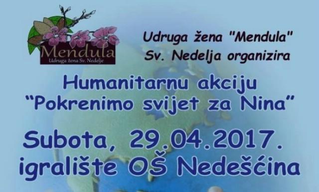 """U subotu humanitarna akcija """"Pokrenimo svijet za Nina"""""""