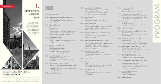 1.  znanstveno - stručni skup `Labinski kulturno - povijesni susreti` 11.5. u Gradskoj knjižnici Labin