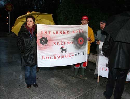Skupština Istarske županije i antiRockwool prosvjed