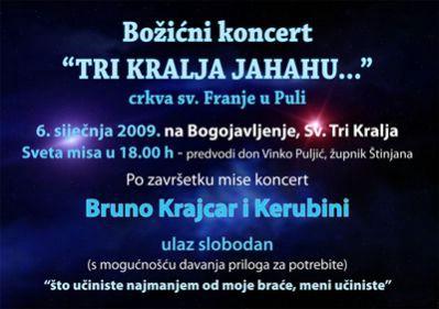 Raški crkveni sastav Kerubini i Bruno Krajcar na Sveta Tri kralja u crkvi Sv. Franje  u Puli