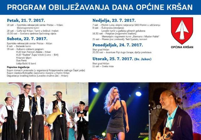 Dani Općine Kršan 21.-25.7.2017.