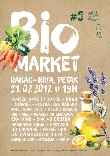 5. Bio Market - sajam ekoloških proizvoda 21. 7. 2017. na rivi u Rapcu