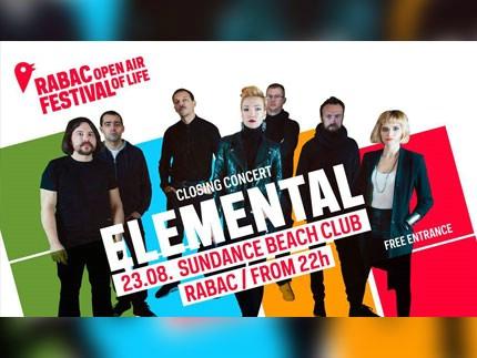 Koncert Elemental, Rabac, 23. 8.