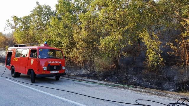 U požaru između Polja i Stanišovi izgorjelo 4 hektara raslinja, bjelogorice i borove šume