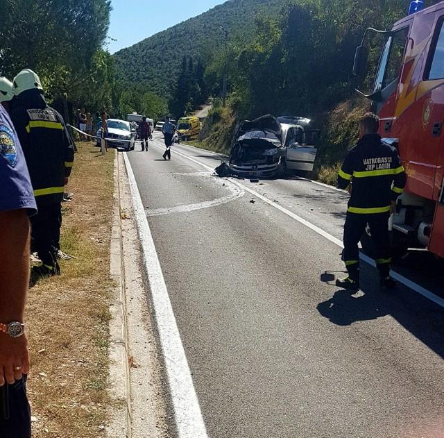 Teška prometna nesreća u Raši - dvije osobe ozlijeđene