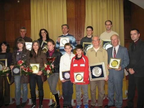 Proglašenje najboljih sportaš(ic)a Labina za 2008: U gradu šaha dvojica proglašena najboljim sportašima