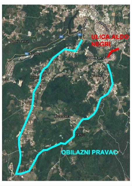 [OBAVIJEST] Zbog radova od 9.10. pa do kraja godine u potpunosti zatvorena ulica Aldo Negri za Gornji Labin