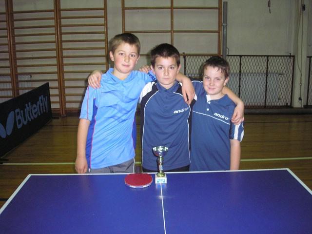 Ekipno prvenstvo županije u stolnom tenisu za najmlađe kadete i kadetkinje