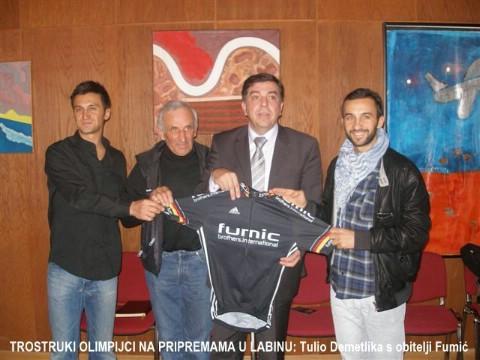 Labin: trostruki olimpijci, braća Fumić, izrazili želju voziti za Hrvatsku