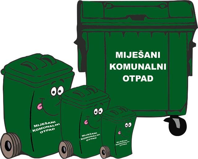 Obavijest o podjeli kanti za miješani otpad na području Općine Kršan