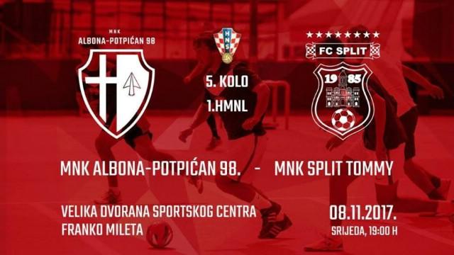[NAJAVA] MNK Albona-Potpićan 98. - MNK Split Tommy - VEČERAS 8.11.2017. 19h u SC Franko Mileta