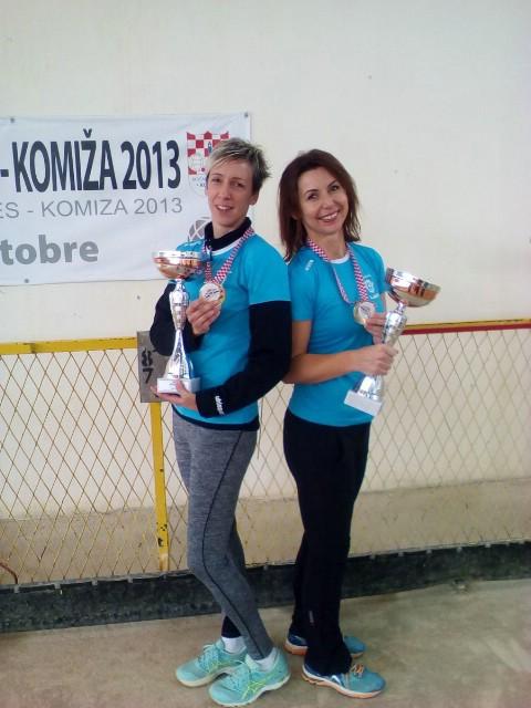 Najbolje boćarice Labina Nives Jelovica i Tanja Grubiša osvojile naslov prvakinja Hrvatske u parovima