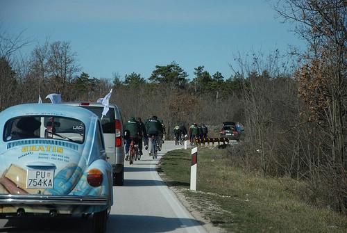 Plinio Cuccurin u subotu biciklom na relaciji Labin - Raša - Rakalj