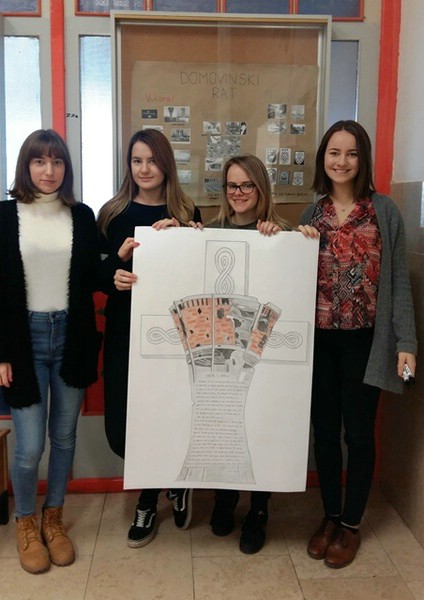 Učenici Srednje škole Mate Blažina Labin i ove su godine obilježili 18. studeni -  Dan sjećanja na žrtvu Vukovara