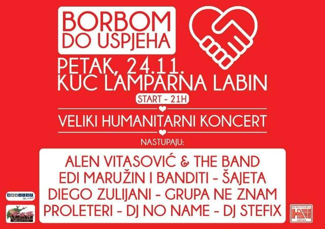 "Humanitarni koncert ""Borbom do uspjeha"" @ KuC Lamparna, Labin 24.11.2017."