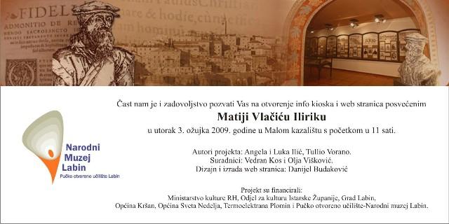 Obilježavanje rođenja Matije Vlačića Ilirika predstavljanjem web stranice i info kioska