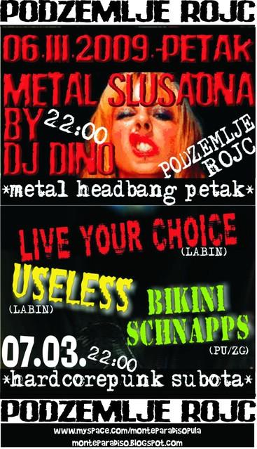 """Labinski bendovi """"Useless"""" i """"Live Your Choice"""" na koncertu u podzemlju Rojca"""