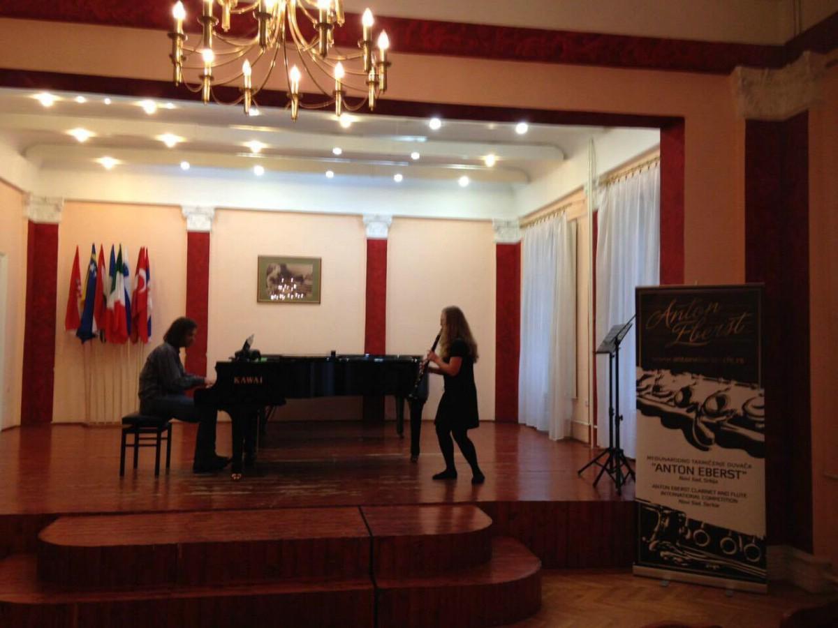 Diana Marković treća na 9. međunarodnom natjecanju Anton Eberst u Novom Sadu